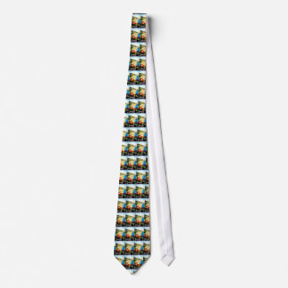 Viaje de Amalfi Italia Europa del vintage Corbatas Personalizadas