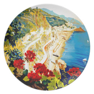 Viaje de Amalfi Italia Europa del vintage Plato