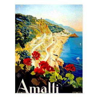 Viaje de Amalfi Italia Europa del vintage Postal