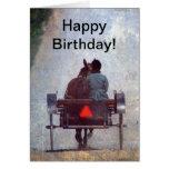 Viaje de Amish, cumpleaños Tarjeta