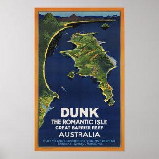 Viaje de Australia del vintage del ~ de la isla de Póster