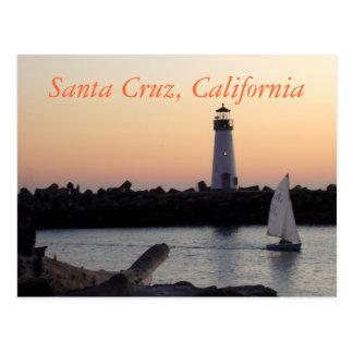 Viaje de California del puerto de Santa Cruz Tarjeta Postal