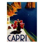Viaje de Capri Italia del vintage Postal