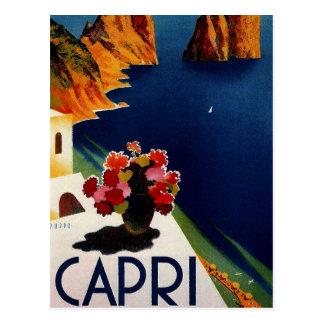 Viaje de Capri Italia del vintage Tarjetas Postales