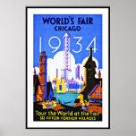Viaje de Chicago de la feria de mundo de la Póster