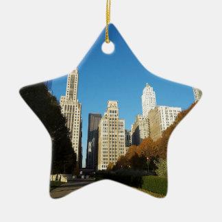 Viaje de Chicago Illinois IL los E.E.U.U. Adorno De Cerámica En Forma De Estrella