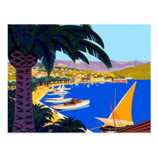 Viaje de Cote d'Azur del vintage Tarjetas Postales