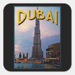 Viaje de Dubai Calcomanías Cuadradass Personalizadas