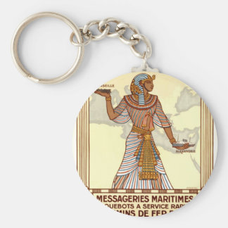 Viaje de Egipto del vintage Llavero Redondo Tipo Pin