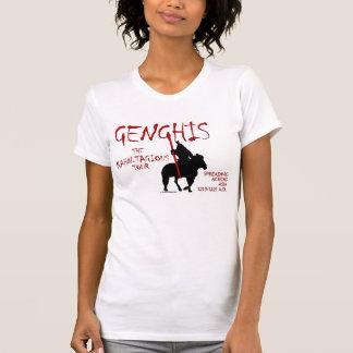 """Viaje de Genghis """"Kahn-tagious"""" (frente de la luz  Camiseta"""