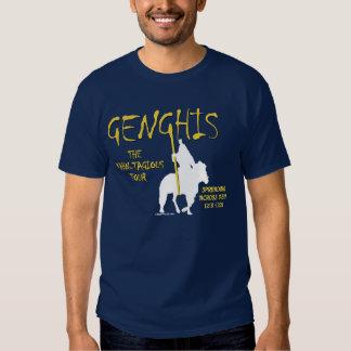 """Viaje de Genghis """"Kahn-tagious"""" (la oscuridad de Playeras"""
