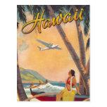 Viaje de Hawaii del vintage Tarjetas Postales