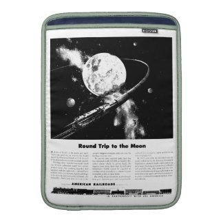 Viaje de ida y vuelta a la luna fundas macbook air