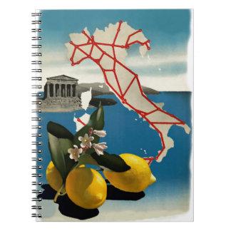 Viaje de Italia del vintage Cuadernos