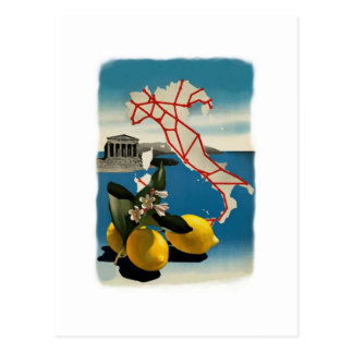 Viaje de Italia del vintage Postales