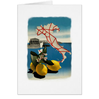 Viaje de Italia del vintage Tarjeta De Felicitación
