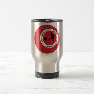 Viaje de Kickball del logotipo y tazas de café