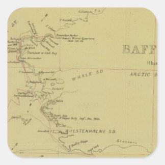 Viaje de la bahía de Baffin Pegatina Cuadrada