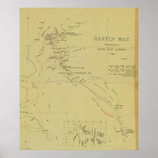 Viaje de la bahía de Baffin Póster
