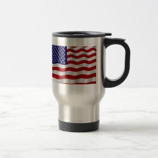 Viaje de la bandera americana/taza del viajero taza de viaje de acero inoxidable
