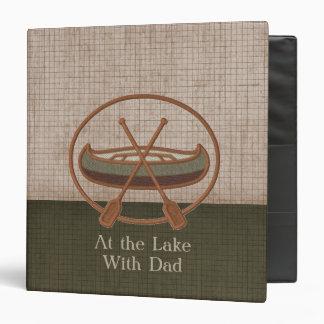 Viaje de la canoa con el personalizado del papá carpeta 3,8 cm