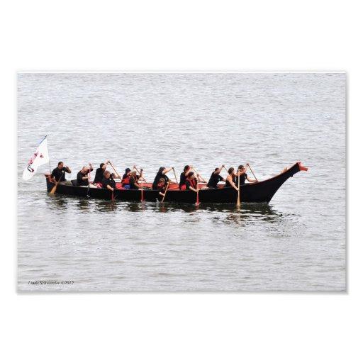Viaje de la canoa de la isla de Squaxin Arte Fotografico