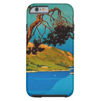 Viaje de la costa de California del vintage Funda De iPhone 6 Tough
