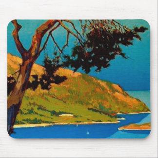 Viaje de la costa de California del vintage Tapete De Raton