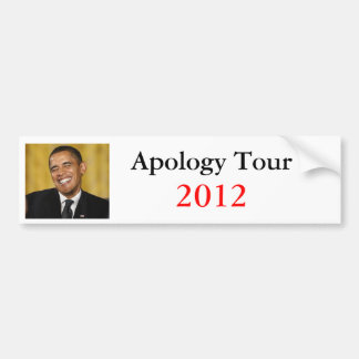 Viaje de la disculpa de Obama Pegatina Para Auto