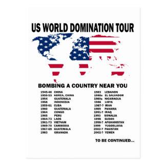 Viaje de la dominación del mundo tarjeta postal