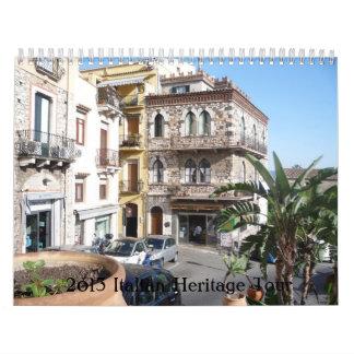 Viaje de la herencia de 2013 italianos calendarios