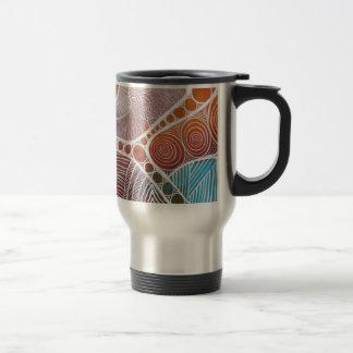 Viaje de la isla tazas de café
