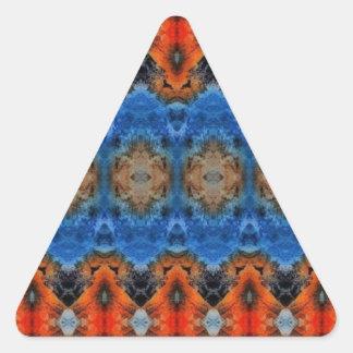 viaje de la montaña del mirroruniverse pegatina triangular