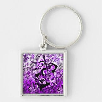 Viaje de la música, rocas Purple_ Llaveros Personalizados