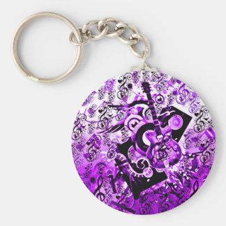 Viaje de la música, rocas Purple_ Llavero Personalizado