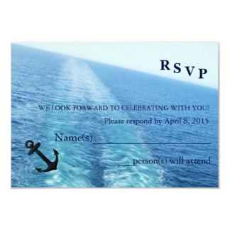 Viaje de la nave/del destino RSVP de Love|Cruise Invitación 8,9 X 12,7 Cm