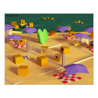 Viaje de la playa, serie de los posters de