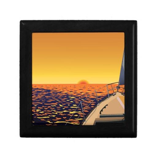 Viaje de la puesta del sol caja de joyas