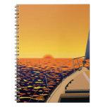 Viaje de la puesta del sol cuaderno