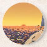 Viaje de la puesta del sol posavasos diseño