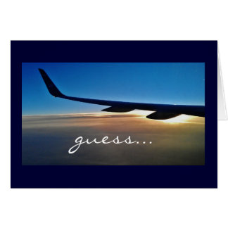 Viaje de la sorpresa: Aeroplano y salida del sol Tarjeta De Felicitación