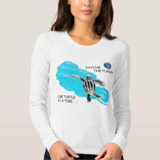 Viaje de la tortuga de mar primer camisas