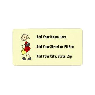Viaje de las compras etiquetas de dirección