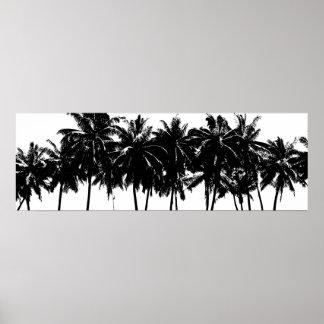 Viaje de las zonas tropicales de las palmeras de póster