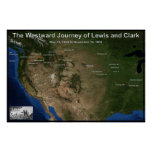 Viaje de Lewis y de Clark Póster