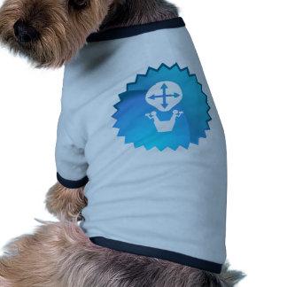 Viaje de los amigos en globo del aire caliente camiseta con mangas para perro