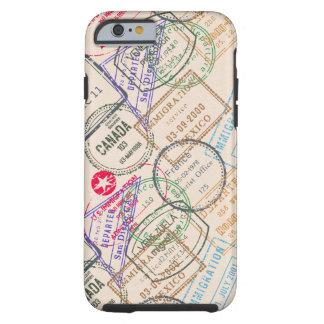 Viaje de los sellos del pasaporte funda de iPhone 6 tough