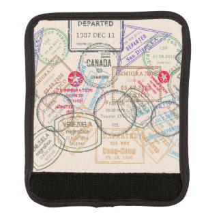 Viaje de los sellos del pasaporte funda para asa de maleta