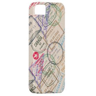Viaje de los sellos del pasaporte iPhone 5 fundas