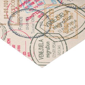 Viaje de los sellos del pasaporte papel de seda pequeño